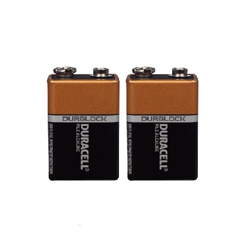 2pack Duracell Coppertop 9V Alkaline Battery